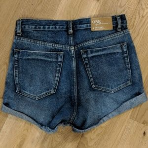 One Teaspoon Outlaws High Waist Shorts